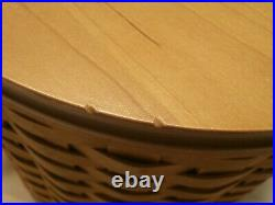 Longaberger 2003 Canister Baskets with Lids Set of 4 with Lidded Inserts up