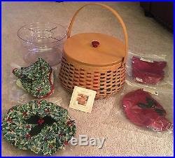 Longaberger 2003 Holiday Hostess Joyful Chorus Basket Super Combo 8 Set Rare