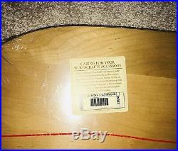 Longaberger 2003 Warm Brown Large Workload Basket NEW Liner Protector & Lid Set