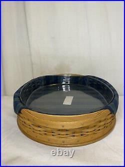 Longaberger 2004 Collectors Club Tea Tray Basket Liner Protector And Tea Set