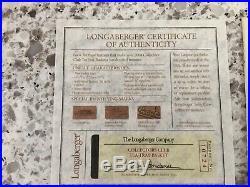Longaberger 2004 Collectors Club Tea Tray Basket Set