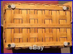 Longaberger 2004 Craft Keeper Basket, Lid & 3 pc Protector Set, ALL NEW MINT