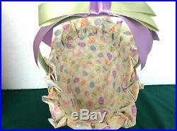 Longaberger 2004 EASTER Super Set Baskets Liner Protector Glass Bunny Ribbon Tie