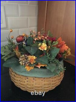 Longaberger 2004 Hostess Happy Halloween Basket Set & Floral Insert