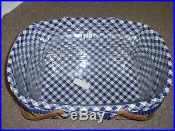 Longaberger 2004 Hostess Only Blue Ribbon Crafting Basket Set. NEW