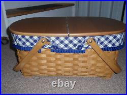 Longaberger 2004 Hostess Only Blue Ribbon Crafting Basket Set. SEE CONDITION