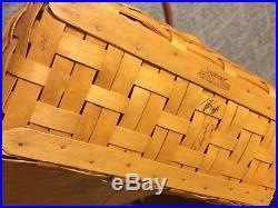 Longaberger 2004 Large Boardwalk Basket Set, Sunny Day Stripe Liner