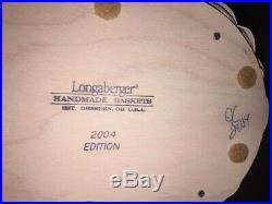 Longaberger 2004 Whitewashed Easter Basket Set with Bunny