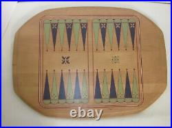 Longaberger 2005 ALL IN ONE GAME Basket Set Chess Checkers Backgammon