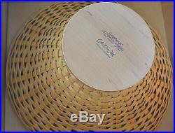 Longaberger 2005 Collector's Club COMPOTE BASKET Set A Fabulous Centerpiece