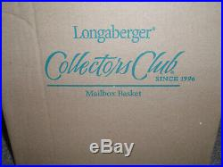 Longaberger 2006 Collectors Club Mailbox Basket Set. WithLiner, Lid, Prot, TO, New