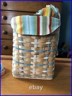 Longaberger 2006 Hostess Coastal Tote Basket Set New Complete