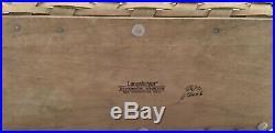 Longaberger 2006 Scalloped Waste Basket & Boutique Basket with Lids Set of 2