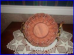 Longaberger 2006 Small & Large Autumn Treats Basket Sets with Web Weaver Tie-0n