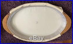 Longaberger 2007 Oval Serving Tray Basket set with lidded protector