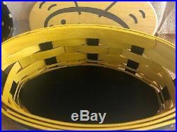 Longaberger 2009 Bee Basket Set Includes Basket, Protector, Liner, Lid & Card