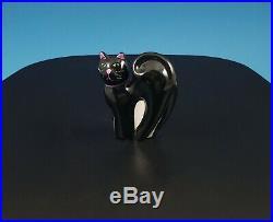 Longaberger 2009 Halloween Black Cat Basket Set Wrought Iron Frame Liner Insert