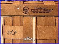 Longaberger 2009 Large Holiday Hostess Snowflake Cookie Basket Set Combo