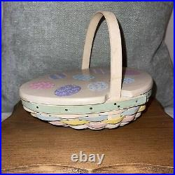 Longaberger 2009 Small Easter Basket 2 Piece Set Hand Woven