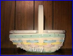 Longaberger 2009 Small Easter Basket 4 Piece Set NEW With Tags