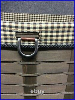 Longaberger 2009 Sort & Store Newspaper Basket Set- Deep brown- Rare Find