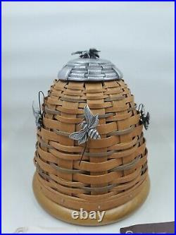 Longaberger 2010 Collectors Club BEE HIVE Basket Set with 3 Bee Tie Ons New L68