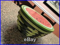 Longaberger 2010 Homestead Gathering Collectors Club Watermelon Basket Set