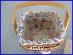 Longaberger 2010 May Series Grandma Bonnie's Miniature mini Violet basket set
