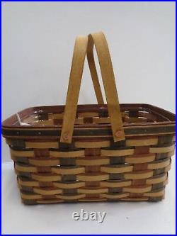 Longaberger 2010 Signature Weave Medium Market Basket Set RETIRED New