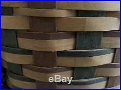 Longaberger 2010 Signature Weave Step It Up Basket Protector Set Warm Deep Rich