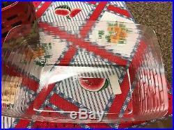 Longaberger 2010 Watermelon Basket Set