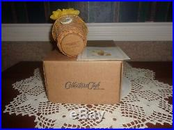 Longaberger 2011 Collector's Club Miniature May Series Daffodil Basket Set NIB