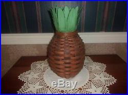 Longaberger 2011 Collector's Club Pineapple Basket Set