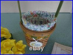 Longaberger 2011 May Series Grandma Bonnies Miniature mini Daffodil basket set