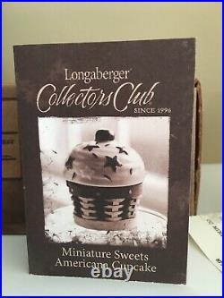 Longaberger 2012 CC Miniature Sweets American Cupcake Basket Set NEW in box