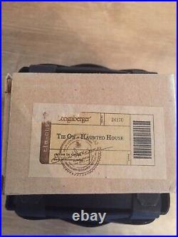 Longaberger 2012 HALLOWEEN HAUNTED HOUSE Basket Set Complete RARE