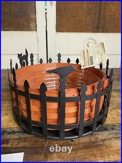 Longaberger 2012 TRICK OR TREAT Basket Set Metal Halloween Holder EXTRAS CAT Tag