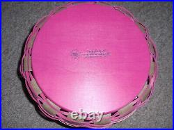 Longaberger 2013 Pink Camo Gear Basket Set. Comes with Lid & Protector NEW