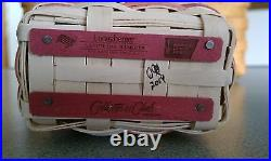 Longaberger 2014 Horizon of Hope Collector's Club miniature Pink Basket Set NEW