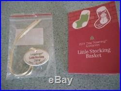 Longaberger 2014 Red Christmas Tree Trimming Little Stocking basket set NEW