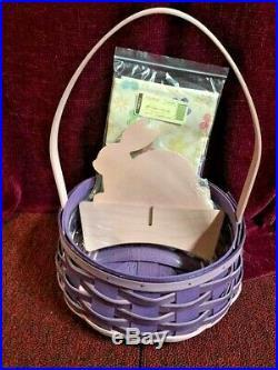 Longaberger 2015 Easter Basket Set Pink & Purple NWT