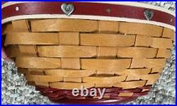 Longaberger 2015 Helping Heart Basket Set included Lid & Protector, New