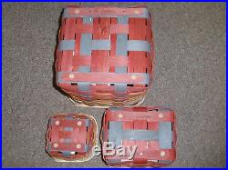 Longaberger 2015 TURNING LEAVES HEARTH, HOME & FALL TREATS BASKETS, SET OF 3 NEW