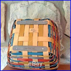 Longaberger 2016 Collector club Sunflower Basket Set B/P/L Mint! L@@K