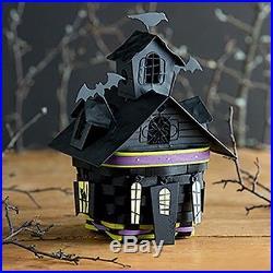 Longaberger 2016 Halloween Haunted House Basket Metal Lid Tie-on Set RARE