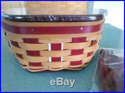 Longaberger 2016 Red Christmas Holiday Host Generations basket set Ready to ship