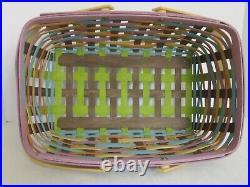 Longaberger 2016 SPRING WEAVE MEDIUM MARKET Basket with 2 Piece Protector Set