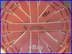 Longaberger 2018 Easter Basket Set In Light Pink WithWhite Large
