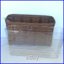 Longaberger 2 Rich Brown Basket Sets Wrought Iron Wall File Rack 2 Tier Stand