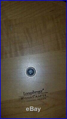 Longaberger 4 Basket Canister Set With Metal Knobs